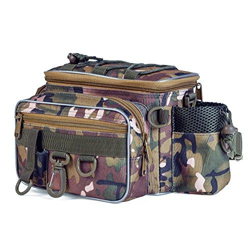 Lixada Tragbare Angelgerät Tasche, Outdoor Single-Schulter Angeltasche, Angeln Taille Bauchtasche Pack, Angelköder Tackle Utility Storage Bag