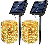 Tarister [2 Pack Guirnalda Luces Exterior Solar, 12M 120 LED...