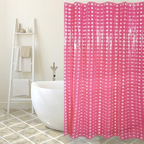 MSV Anti-Schimmel Duschvorhang Pink Anti-Bakteriell, waschbar, wasserdicht PVC 180x200cm