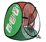 LONGRIDGE Golf Equipment 4 IN 1 Chipping NET, RED/White/Green/Black -