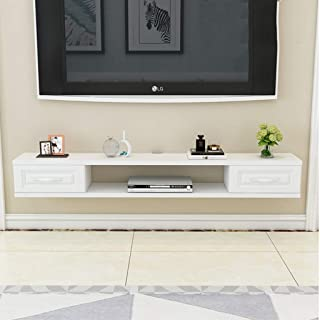 Floating TV Cabinet Wall Hanging Console Furniture Media Player Entertainment Center Video Game Console Cable Box Speaker