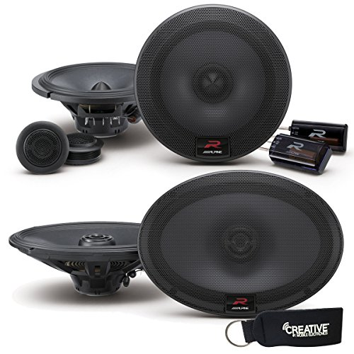 Alpine R-S65C 6.5 Inch Component 2-Way Speakers System