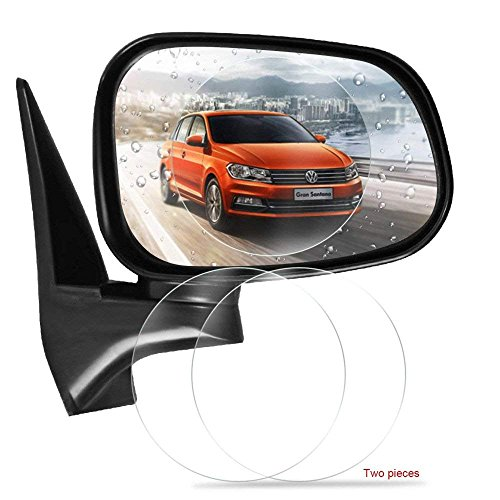 51Yrczm4oiL - Freenavi Car Rearview Mirror Waterproof Film, Anti Fog Film Anti-Glare Anti Mist Anti-Scratch Waterproof Rainproof Rear View Mirror Window Clear Protective Film-2Pcs