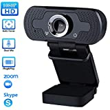 TROPRO Webcam for PC, 1080P Full HD Web camera with Microphone for Desktop