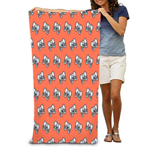 "Xunulyn Bath Towel Soft Big Beach Towel 31""x 51"" Unique Soft Pattern Emoji Koala Can be Used as Background Text"