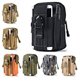 Universal Outdoor Tactical Holster Military Molle Hip Waist Belt Bag Wallet Pouch Purse Phone Case with Zipper for iPhone 7 6s Plus 5S Samsung Galaxy S7 S6 LG HTC and More (Black)