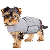 YUKOOL Anxiety Coat for Dogs, Lightweight Wrap Calming Vest, Dog Anxiety Jacket, Used to Instant Therapy for Over Excitement in Lightning and Fireworks to Keep Calming Comfort(XS,Grey)