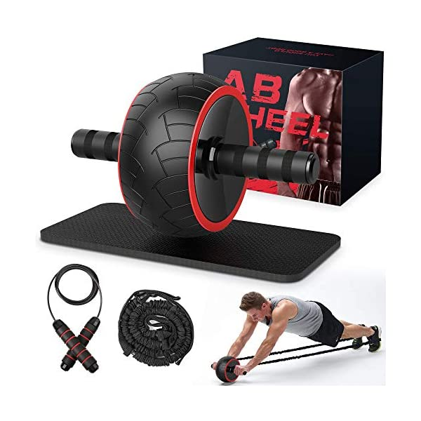 Ab Roller, Ab Wheel Exercise Equipment for Home Gym, Ab Roller Wheel for Abs Workout,...