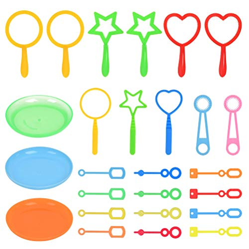 CENBEN 26pcs Kit Pompas de Jabón para Niños Palos de Pompas de Jabón Pompas de Jabón para Niños, para Crear Pompas de Jabón, Juegos de Agua para Jardin para Actividades al Aire Libre