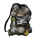 Heavy Duty Extra Large Ball Mesh Bag Soccer Ball Bag Equipment Bag For Sports Beach and Swimming Gears. Adjustable Shoulder Strap For Adults and Kids. Side Pocket for Your Personal Item 30 x 40 Inches