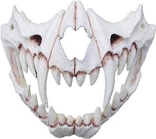 Uscyo Japanese Cosplay Resin Mask, Skull Dragon God Mask Animal Theme Party Animal Skeleton Half Mask Halloween Cosplay