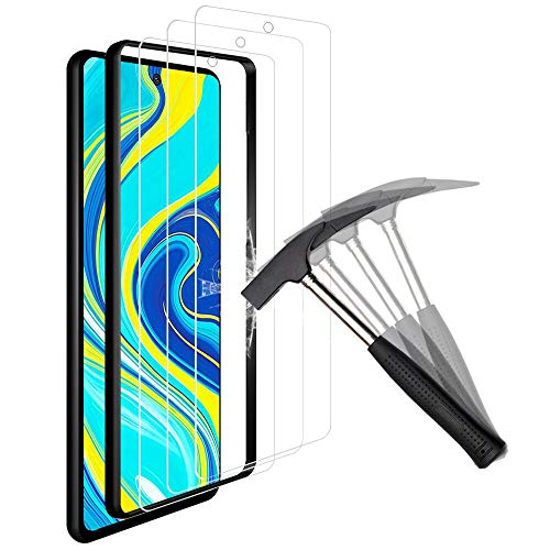 ANEWSIR Protector de Pantalla Compatible con Xiaomi Redmi Note 9S/Note 9 Pro/Poco x3 NFC/xiaomi 10T Lite 5G/Note 9 Pro 5G,Cristal Templado Screen Protector - (3 Piezas)