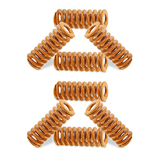 Toaiot 3D Printer Ender 3 pro/Ender 3 Heated Bed Spring Compression Springs for Heatbed Light Load Springs Bottom Connect Leveling 8x20mm/0.31 inch OD 0.78 inch for 3D Printer Upgrade Accessories-8pcs