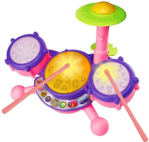 VTech KidiBeats Drum Set, Pink, Great Gift For Kids, Toddlers, Toy for Boys and...