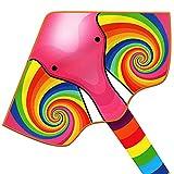 YongnKids Flying Toy Kites - Cometa para niños Adultos Que juegan al Aire Libre en Beach Park - Cuerdas de 100 Metros con Mango fácil de Volar, Gran Regalo para niños y niñas (Elefante)