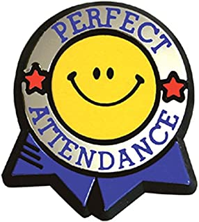 Perfect Attendance Colorful Economy Pin (Set of 100)