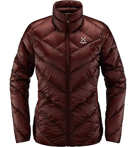 Haglöfs Winterjacke Frauen Outdoorjacke L.I.M Essens Wärmend, Atmungsaktiv, Kleines Packmaß, Wasserabweisend Maroon Red M M