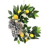 6Wcveuebuc Guirnalda de frutas artificiales de limón para otoño, primavera, margarita, guirnalda de flores para decoración de ventanas de casa de granja