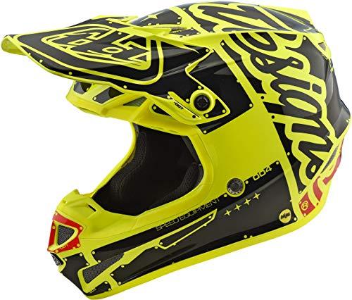 Troy Lee Designs - Casco de moto Se4 Polyacrilite Factory de policarbonato con calota exterior de Eps XS amarillo