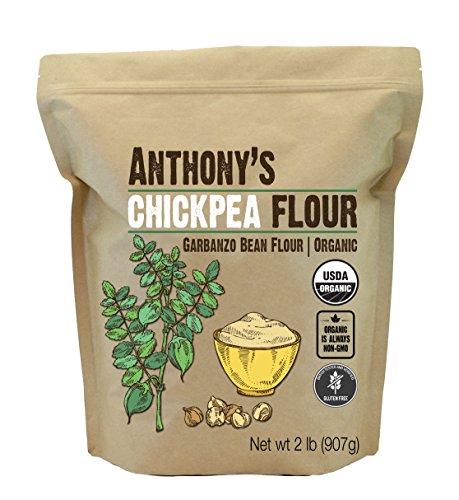 Anthony's Organic Chickpea Flour, Garbanzo Bean Flour, 2 lb, Gluten Free, Non GMO