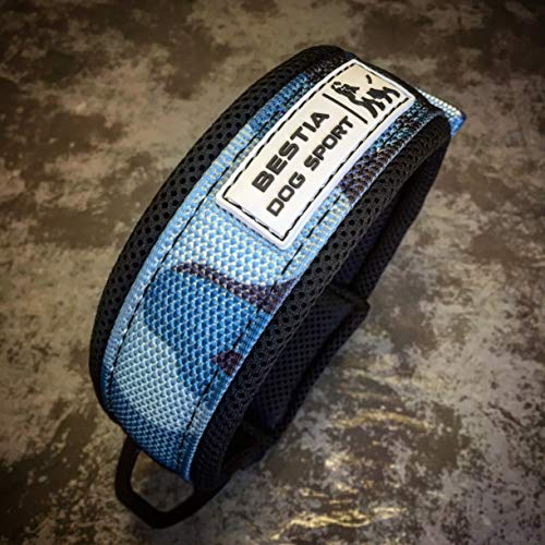 Bestia Dog Sport Fast Release Collar Blue CAMO