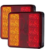 22LED Pilotos Traseros para Remolque Homologado E8 Impermeable Luces Traseras Luz de Matricula Luz de Freno con Tornillos de Montaje para 12V Remolque Caravana Camión Tractor Barco