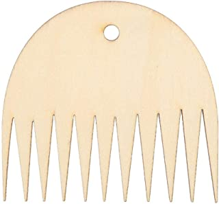 Cikonielf 11 zębów gobelin do tkania, drewno, grzebień do tkania, grzebień z drewna, grzebień, narzędzie do majsterkowani...