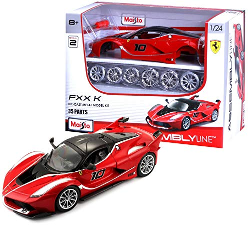 Bburago-Ferrari FXX K en Color Rojo en Escala 1/24 (Maisto 39132)
