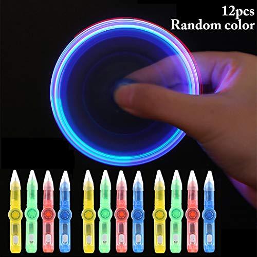 Joyibay 12 PZ Penna A Sfera Penna A Spinning Giocattolo con Filatura A LED