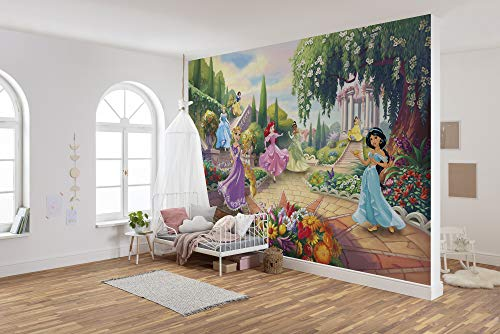Komar Disney Fototapete   Princess Park   Größe: 368 x 254 cm (Breite x Höhe)   Mädchen, Prinzessin, Tapete, Kinder, Wand, Kinderzimmer, Dekoration   8-4109
