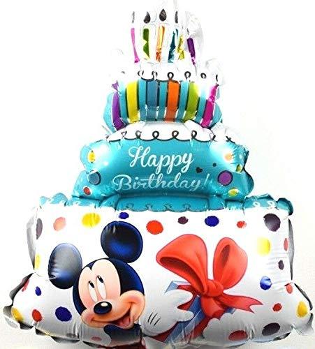 SauParty 3 Stück Kein Helium Ballon! Folienballons Disney Micky Maus Geburtstags Torte