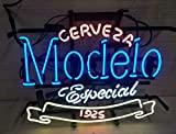 Queen Sense 20'x16' Cerveza Modelo Especial 1925 Neon Sign Beer Bar Pub Man Cave Business Glass Lamp Light DA18
