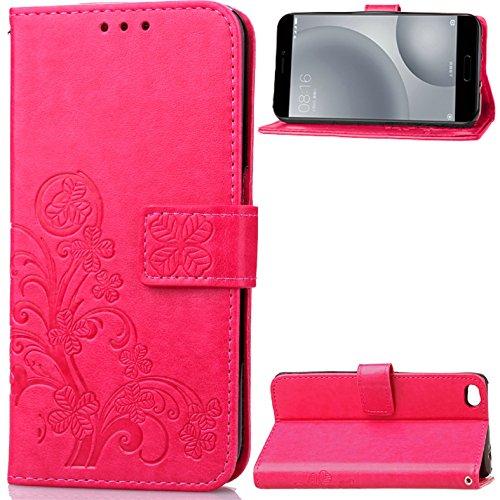 Xiaomi Mi 5c Hülle,[FQY-TEC][Rose]S[PU-Leder]&[TPU]Geldbörse,Kartensteckplatz,Unterstützung Hülle für Xiaomi Mi 5c (5.15