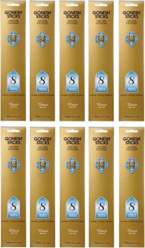 【10個セット】 GONESH(ガーネッシュ) インセンス スティック クラシックシリーズ No.8 (フルーツ系の香り) 20本入 (お香)