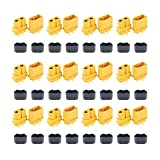 12 Pair XT60H (XT60 Upgrade) Male Female Bullet Connectors Power Plugs with Sheath for Lipo Battery RC Planes Cars