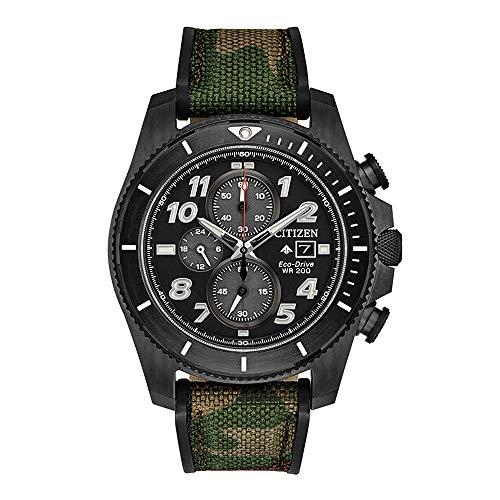 Men's Citizen Eco-Drive Promaster Tough Camoflauge Nylon Strap Watch CA0727-12E