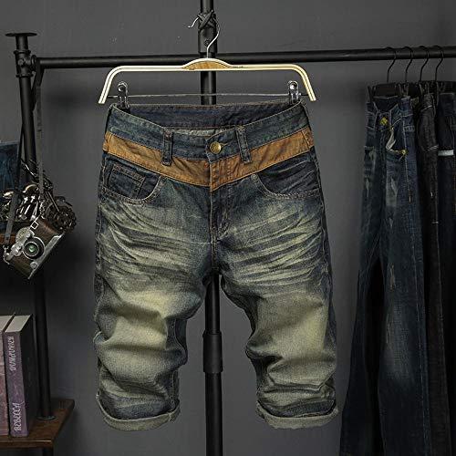 Korte broeken Denim Shorts Herenmodetrend Slanke Retro Heren Cropped Jeans
