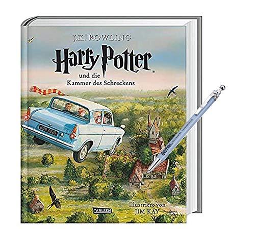 Carlsen Harry Potter und die Kammer des Schreckens (vierfarbig illustrierte Schmuckausgabe) + 1 Harry Potter Kugelschreiber