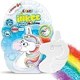 CRAZE INKEE Foamy Rainbow Regenbogen Badebombe Kinder Schaumbad Wolke Einhorn Erdbeer-Duft 22511, Mehrfarbig