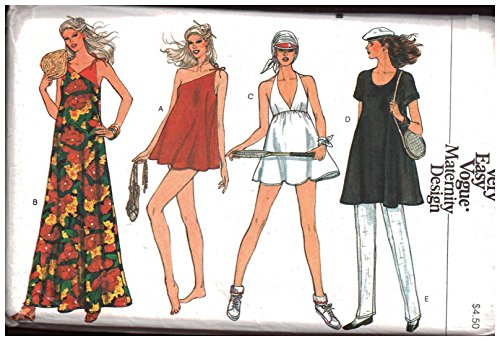 Vogue 7367 Sewing Pattern Misses' Maternity Swimsuit, Briefs, Cover-up, Tennis Dress, Tunic, Pants Size: 8