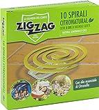 Zig Zag, Spirali Citronatural, Naturali senza insetticida per esterno, durata 8 ore, all'o...