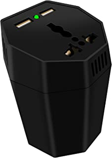 Nobranded Portátil Digital de 150W Inversor de Potência Do Carro Tomada DC 12V a 220V AC, para 12V/24V, Múltipla Proteção ...