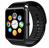 Generic Hochleistungs Bluetooth Smart Watch mit Kamera für Smartphones, GT08 With Camera black