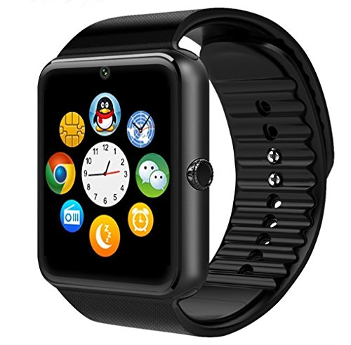 Generic New ad alte prestazioni Bluetooth Smart Watch con telecamera per Smartphones, GT08 With Camera black