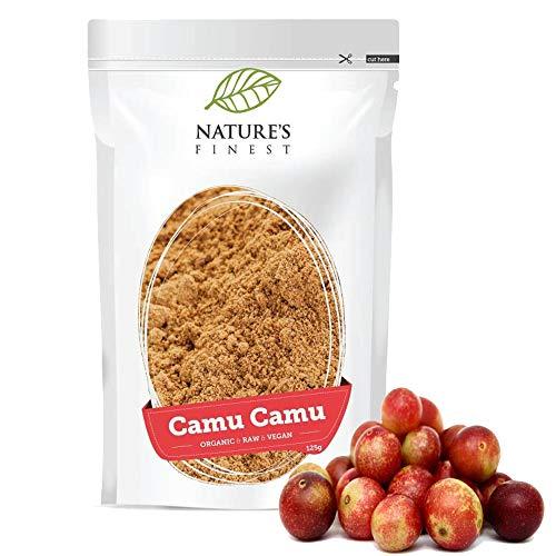 Camu Camu Bio en poudre 125g   Superfood Bio, Cru et Naturel   Haute Teneur en Vitamine C   Convient aux Paléo, Vegans et Végétariens