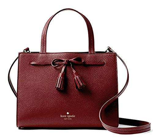 Kate Spade New York Hayes Pebble Leather Small Satchel (Cherrywood)