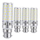 Sauglae LED Ampoule à Maïs 15W, 120W Équivalent Ampoules à Incandescence, 3000K Blanc Chaud, 1500LM, B22 Baïonnette Casquette, 4-Pack