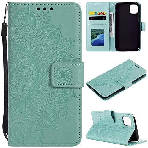 CoverKingz Handyhülle für Apple iPhone 11 [6,1 Zoll] - Handytasche mit Kartenfach iPhone 11 Cover - Handy Hülle klappbar Motiv Mandala Grün