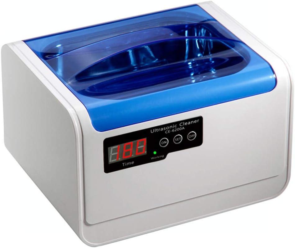 Limpiador por ultrasonidos, 1,4 L, limpiador de joyas por ultrasonidos, digital, 5 ciclos, 70 W, potencia para gafas, collares, relojes.
