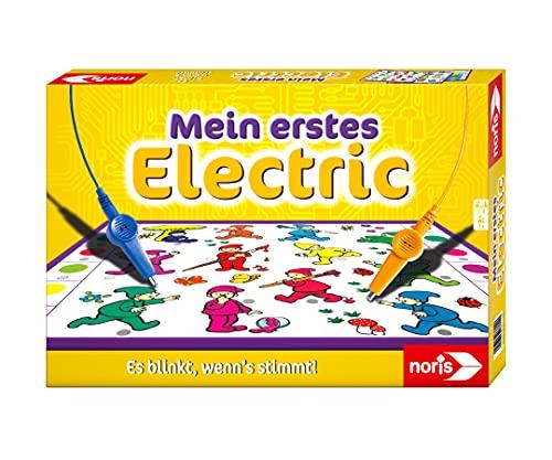 Noris 606013714 Mein erstes Electric, Der Lernspiel-Klassiker, was passt zusammen, Es blinkt, wenn's stimmt, ab 3 Jahren